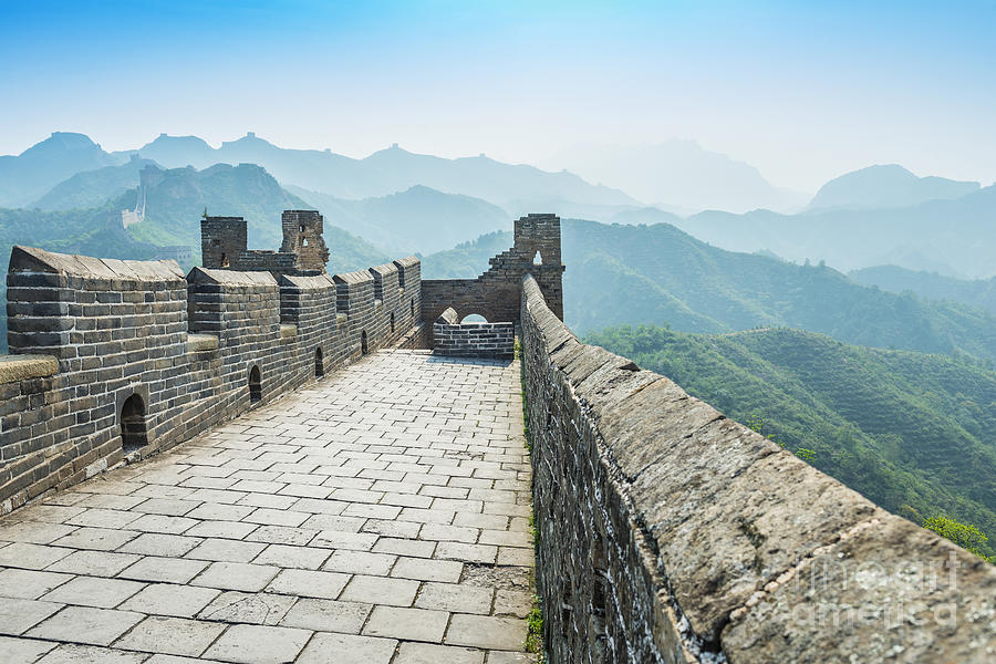 Scenic Photograph - The Great Wall Of China by Aphotostory