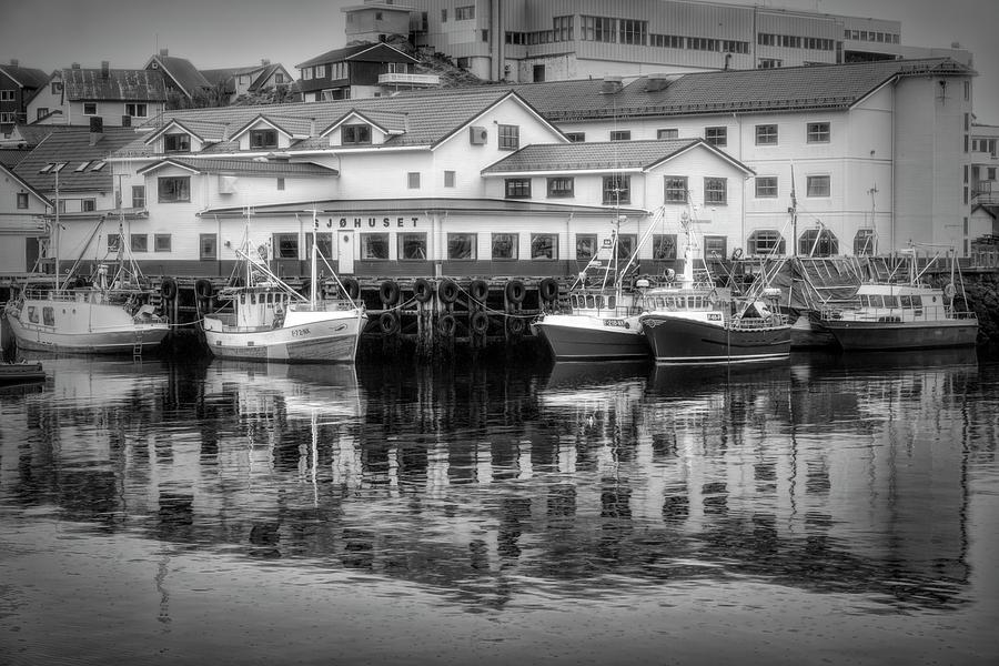 The Harbor of Honningsvag Norway by Debra and Dave Vanderlaan