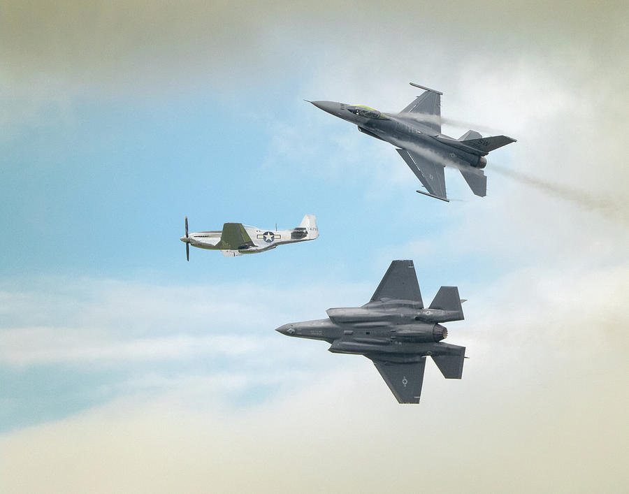 The Heritage Flight Photograph by Brian Caldwell