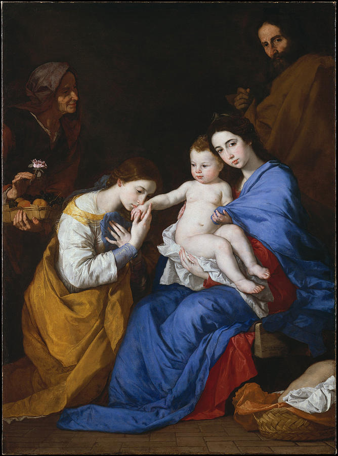 The Holy Family with Saints Anne and Catherine of Alexandria by Jusepe de Ribera