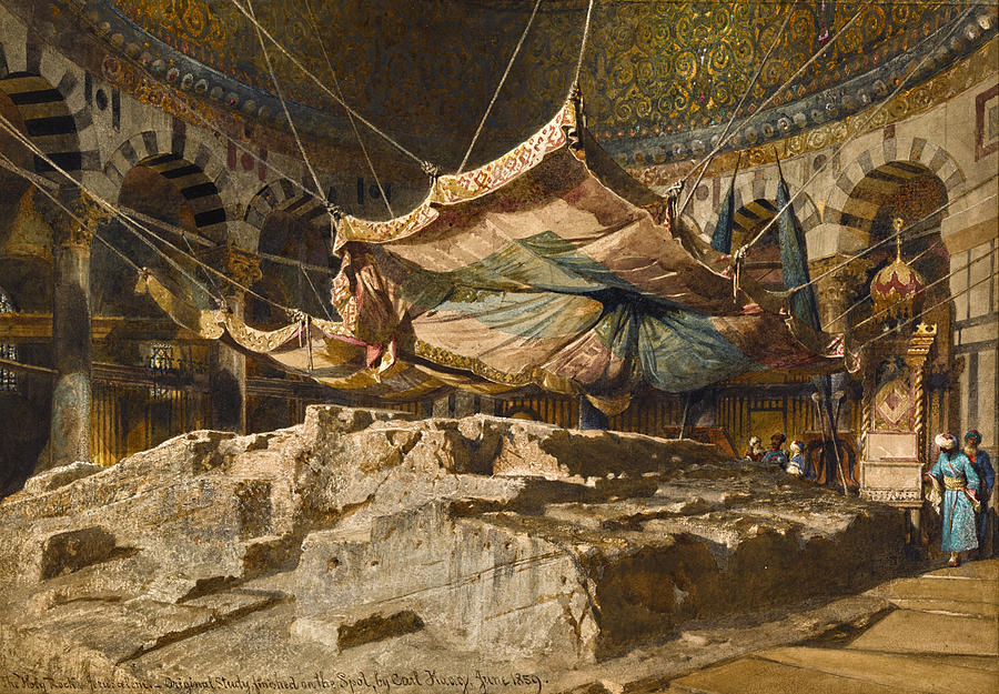The Holy Rock, Jerusalem by Carl Haag