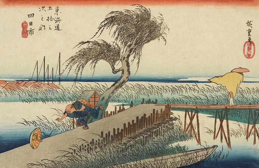 Stili e forme di pittura giapponese... 1-the-hurricane-utagawa-hiroshige