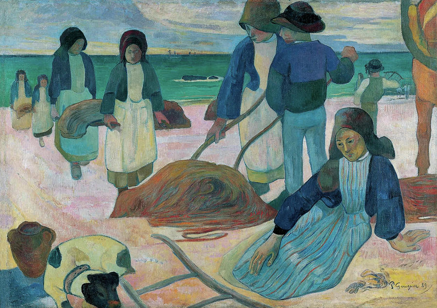 Beach Painting - The Kelp Gatherers II by Paul Gauguin