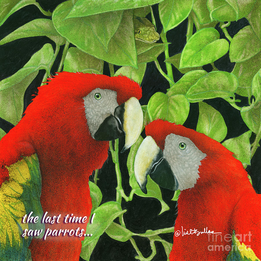 Will Bullas Painting - the last time I saw parrots... 1 by Will Bullas