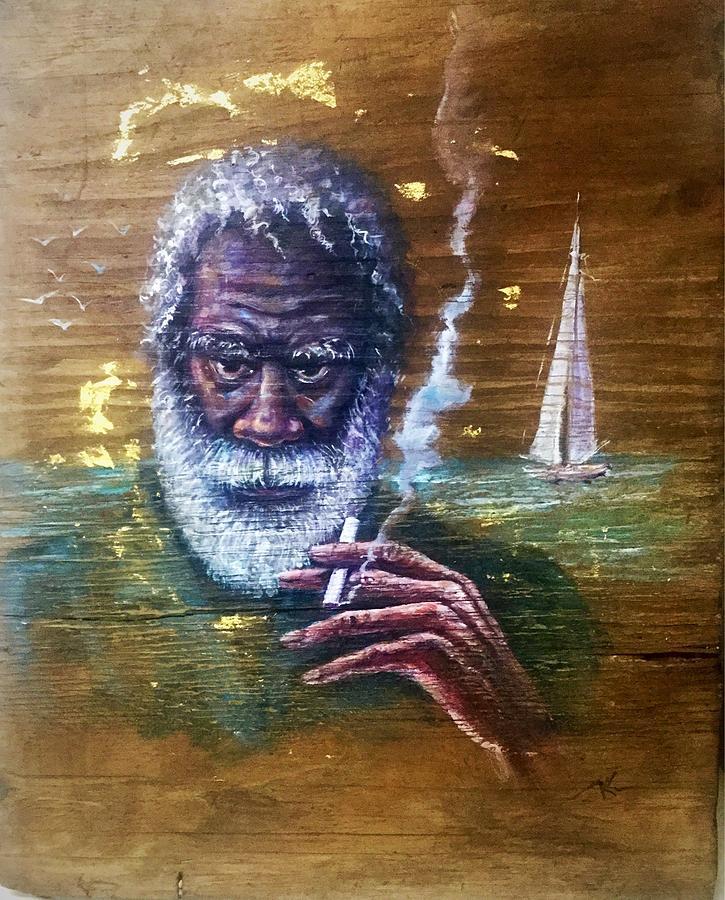 The old fisherman by Katerina Kovatcheva