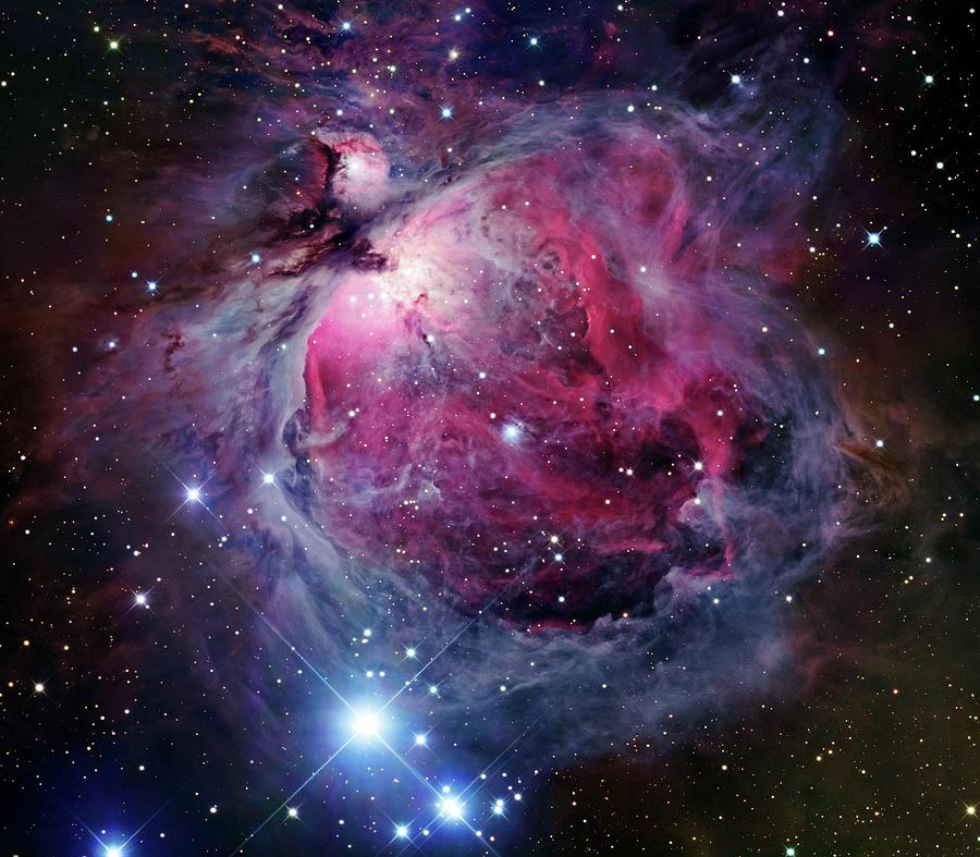The Orion Nebula, Also Known As Messier Photograph by Stocktrek Images