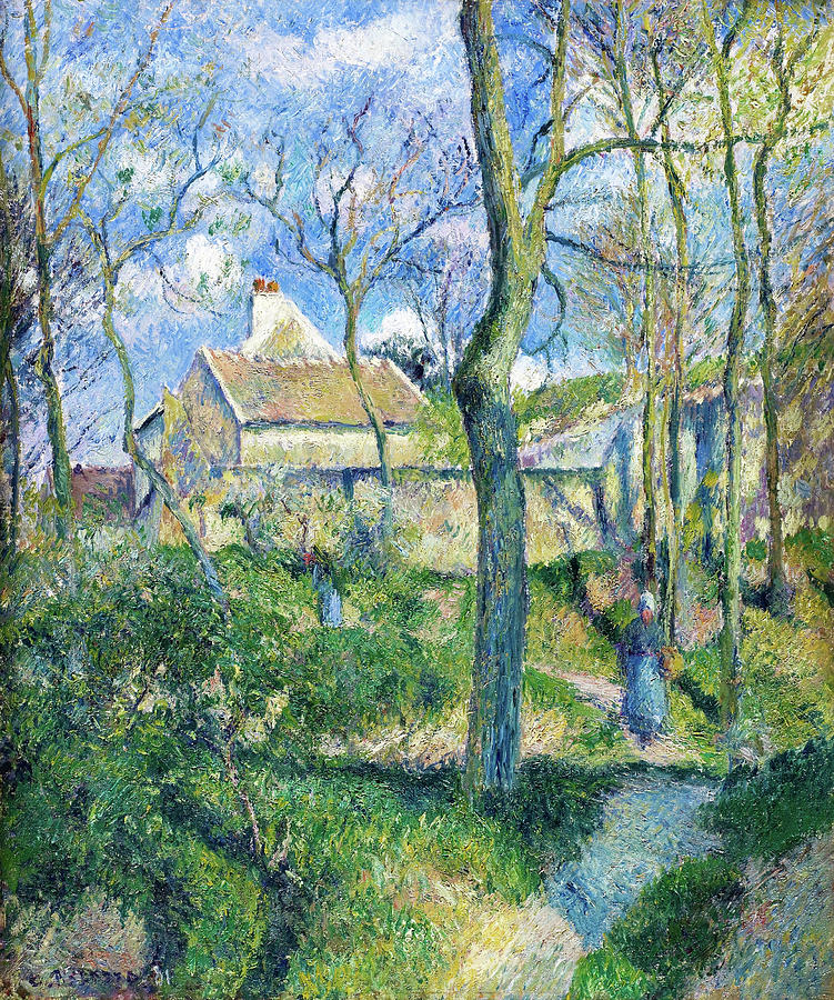 Pontoise Painting - The Path To Les Pouilleux, Pontoise - Digital Remastered Edition by Camille Pissarro