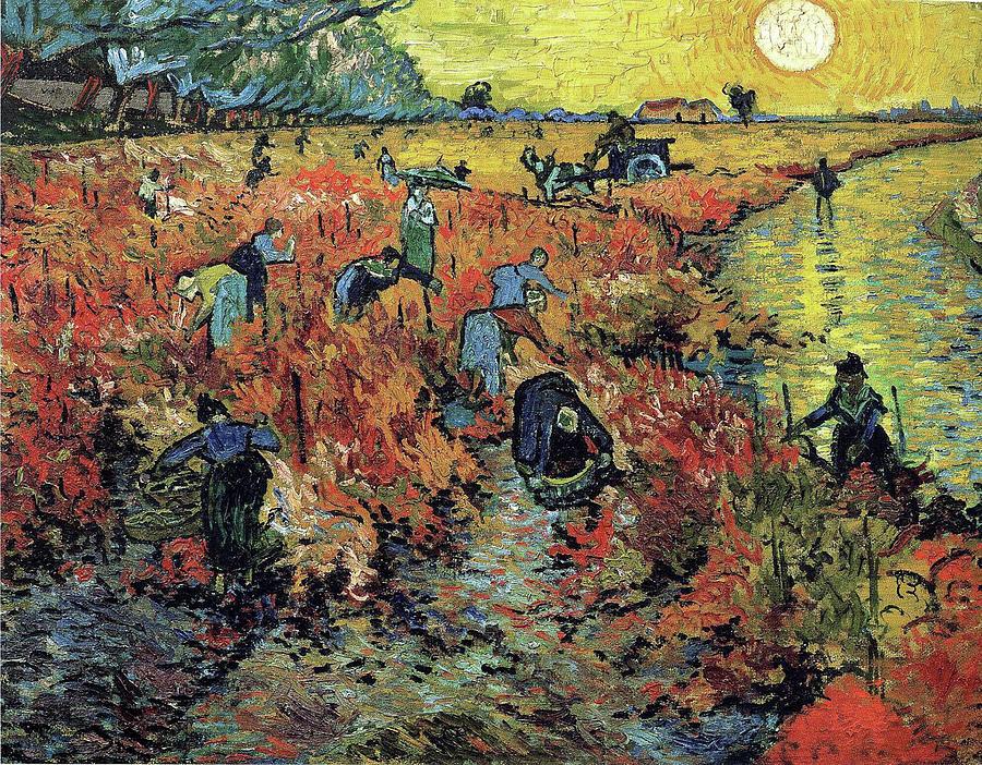 The Red Vineyards in Arles  by Vincent Van Gogh