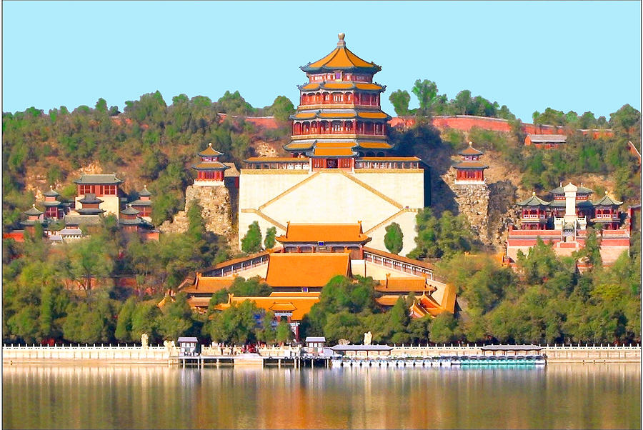 Summer Palace Mixed Media - The Summer Palace in Beijing, China by Steve Clarke