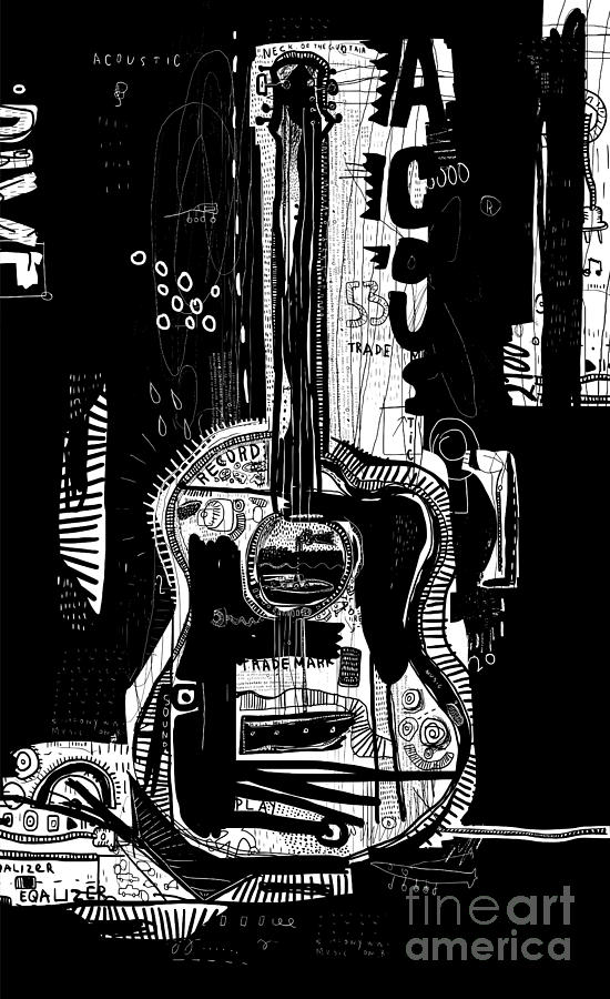 Customization Digital Art - The Symbolic Image Of An Acoustic by Dmitriip
