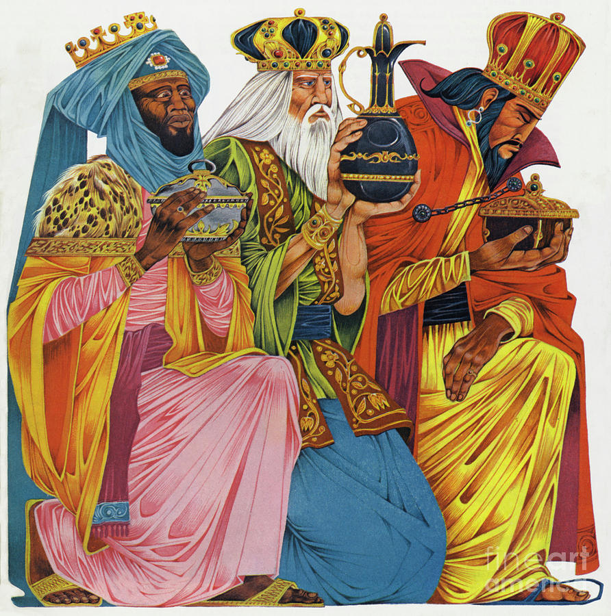 The Three Kings Painting - The Three Kings by Richard Hook