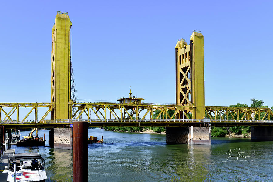 Old Town Sacramento Photograph - The Tower Bridge by Jim Thompson