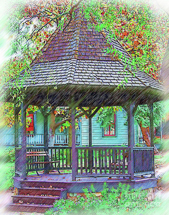 The Victorian Gazebo Sketched by Kirt Tisdale