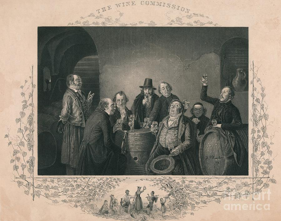 The Wine Commission Drawing by Print Collector