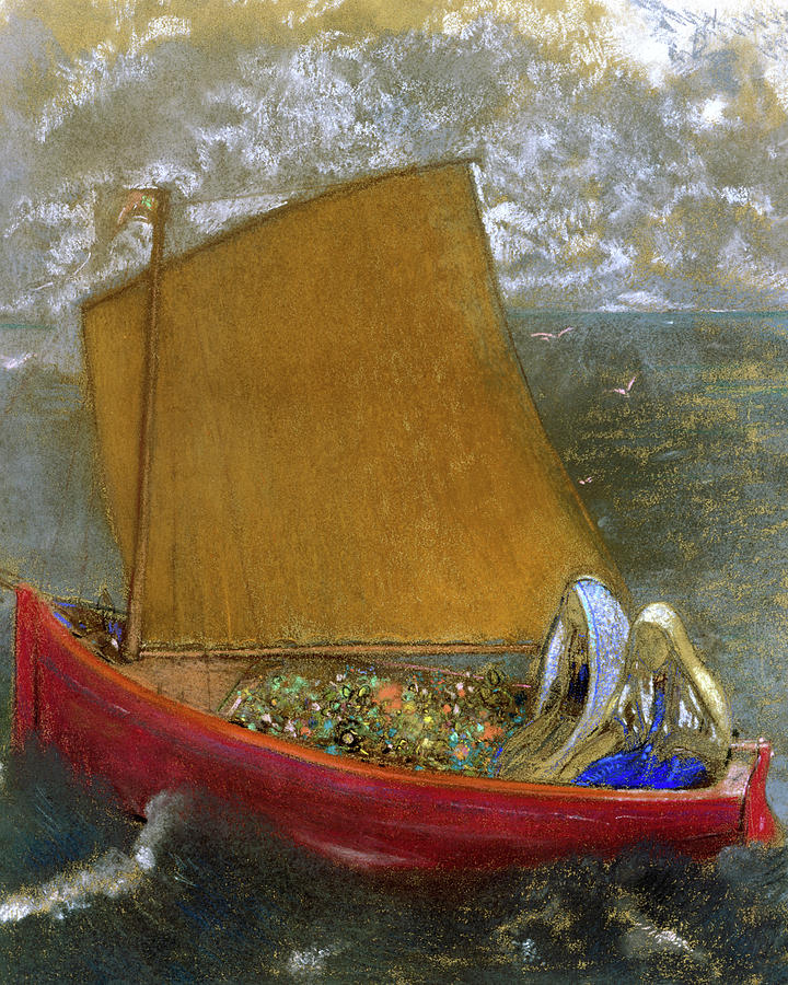 Odilon Redon Painting - The Yellow Sail, 1905 by Odilon Redon