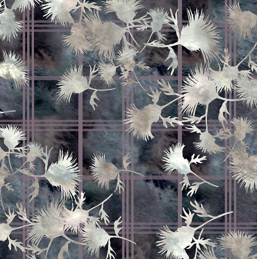 Thistle Plaid Digital Art