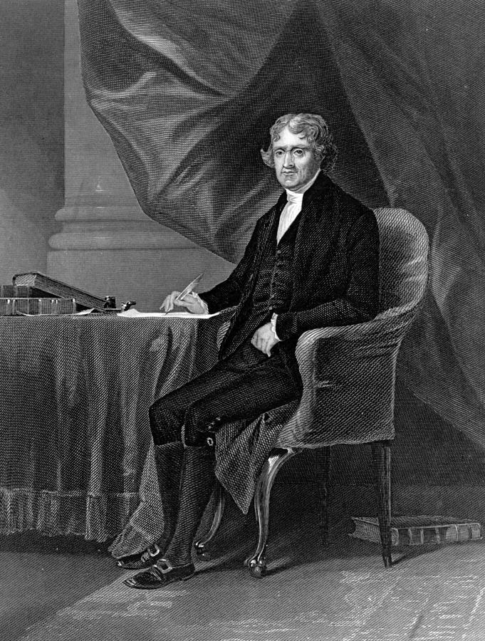 Thomas Jefferson Digital Art by Hulton Archive
