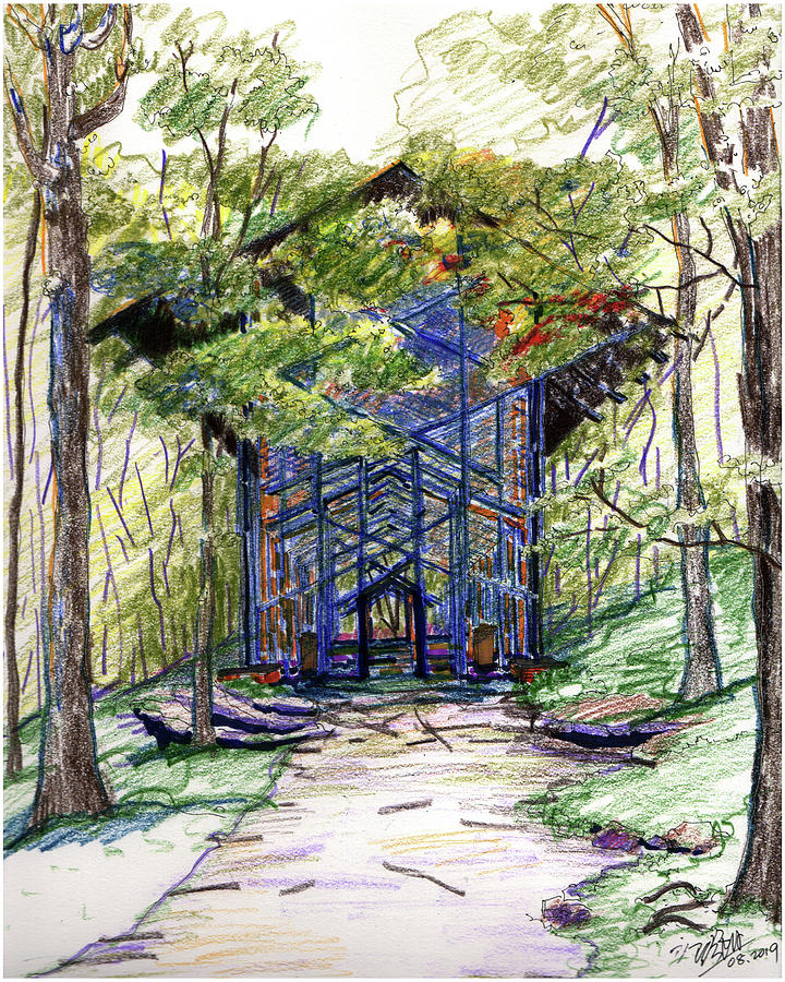 Thorncrown Chapel by Yang Luo-Branch