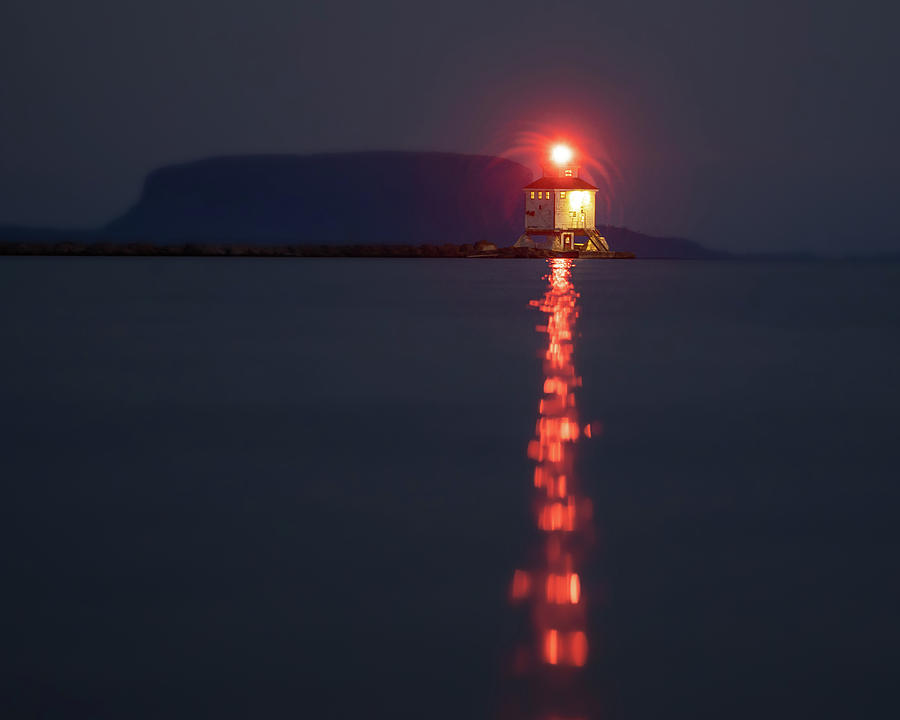 Abstract Photograph - Thunder Bay Harbour Lighthouse by Jakub Sisak