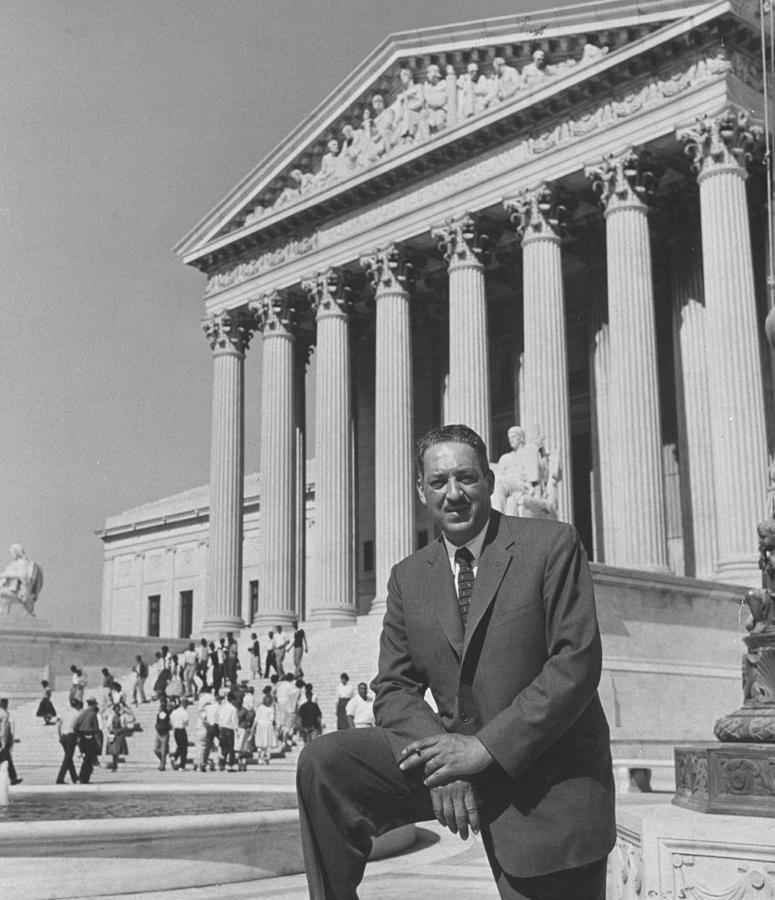 Thurgood Marshall Photograph by Hank Walker