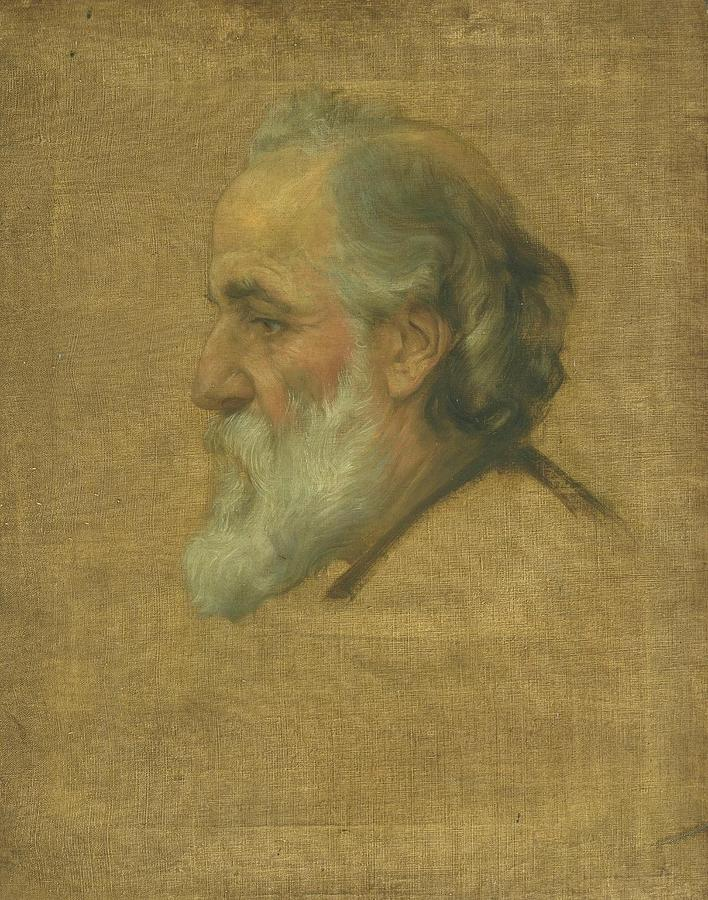Title Sketch Of Alphonse Legros Painting by MotionAge Designs