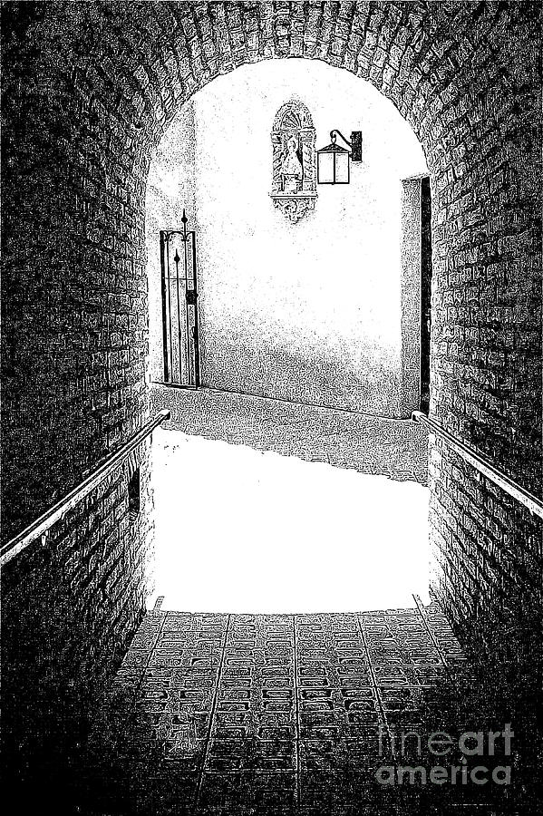 Tlaquepaque Arch Black And White 300 Drawing