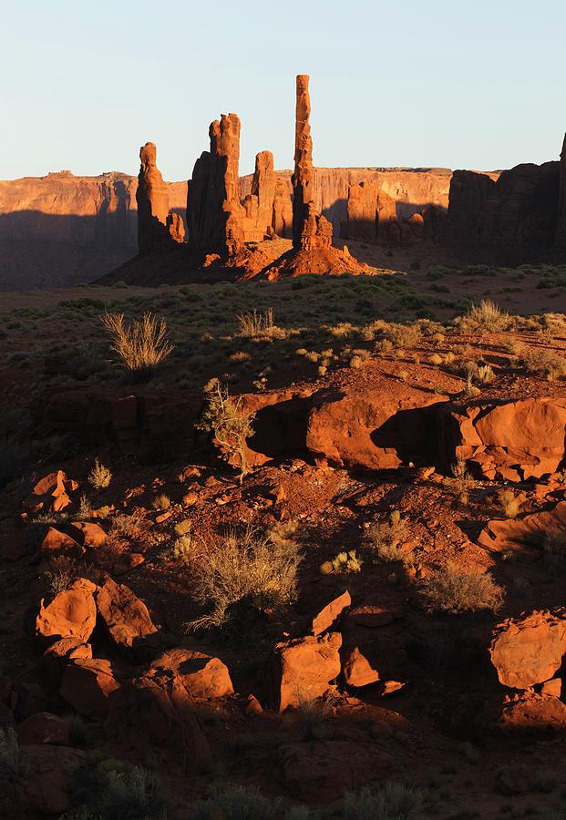 Adam Jones Photograph - Totem Pole Formation At Sunset by Adam Jones