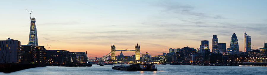 Tower Bridge And The City Of London Photograph by Dynasoar