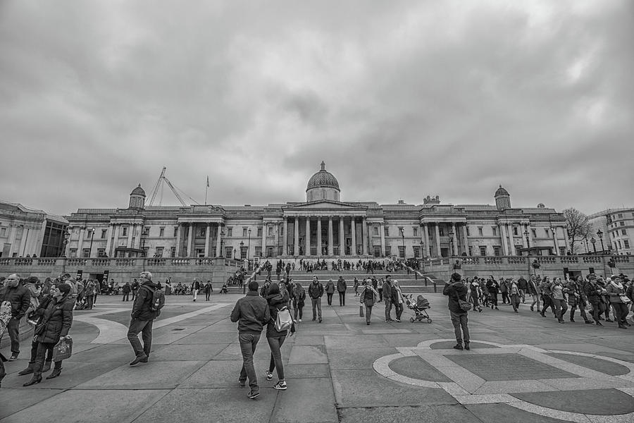 Square Photograph - Trafalgar Square by Martin Newman