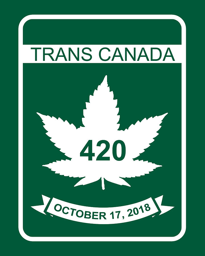 420 Digital Art - Trans Canada 420 Oct 17, 2018 - Quality Poster by Smoky Blue