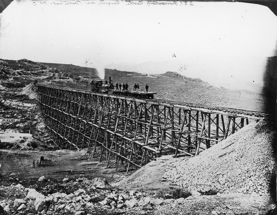 Transcontinental Railroad Photograph by Fotosearch