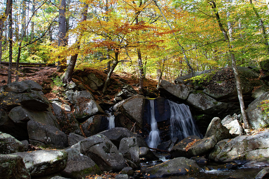 Trap Water Fall in Ashby Massachusetts by Jeff Folger