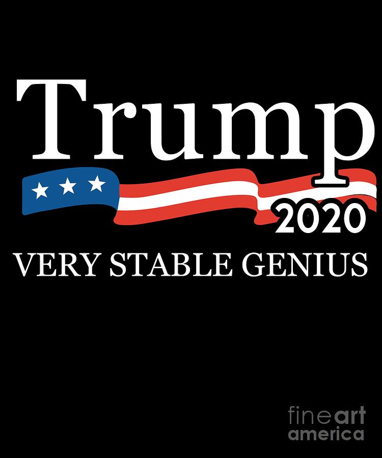 Trump 2020 Very Stable Genius by Flippin Sweet Gear