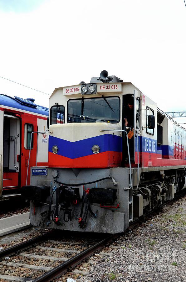 Turkish Railways diesel electric locomotive for Dogu Express train at Ankara Turkey by Imran Ahmed