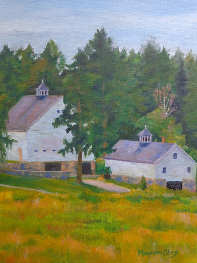 Two Country Barns by Maureen Obey