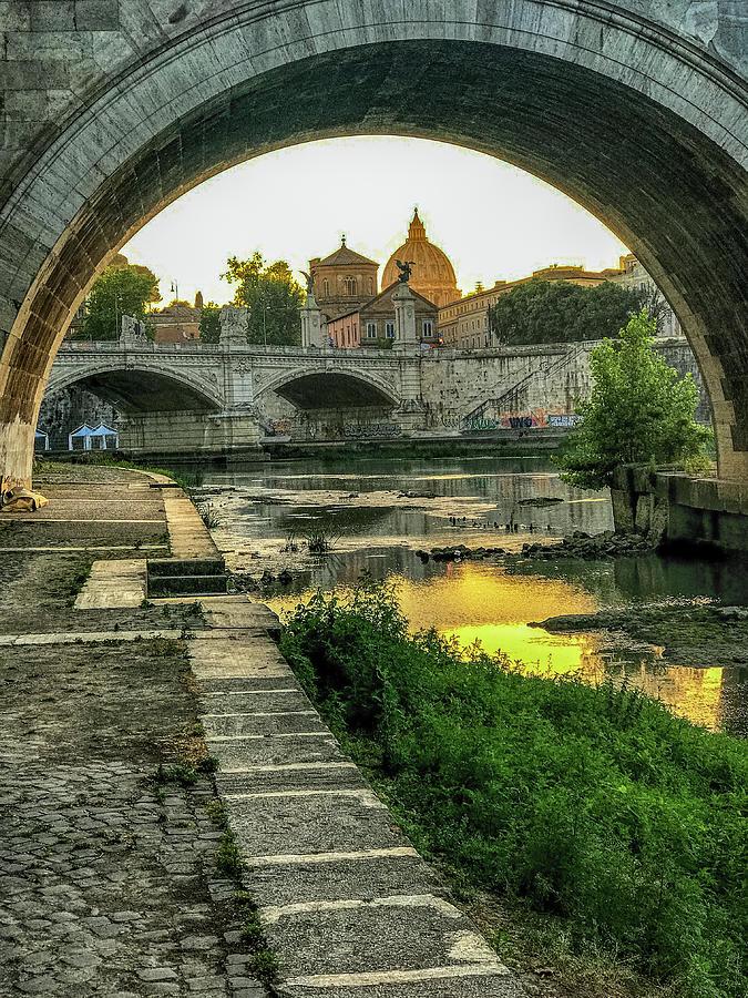 Italia Photograph - Under The Bridge by Joseph Yarbrough