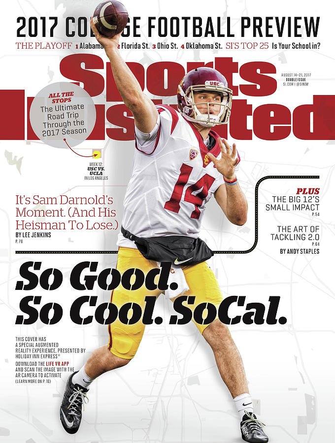 University Of Southern California Sam Darnold, 2017 College Sports Illustrated Cover Photograph by Sports Illustrated