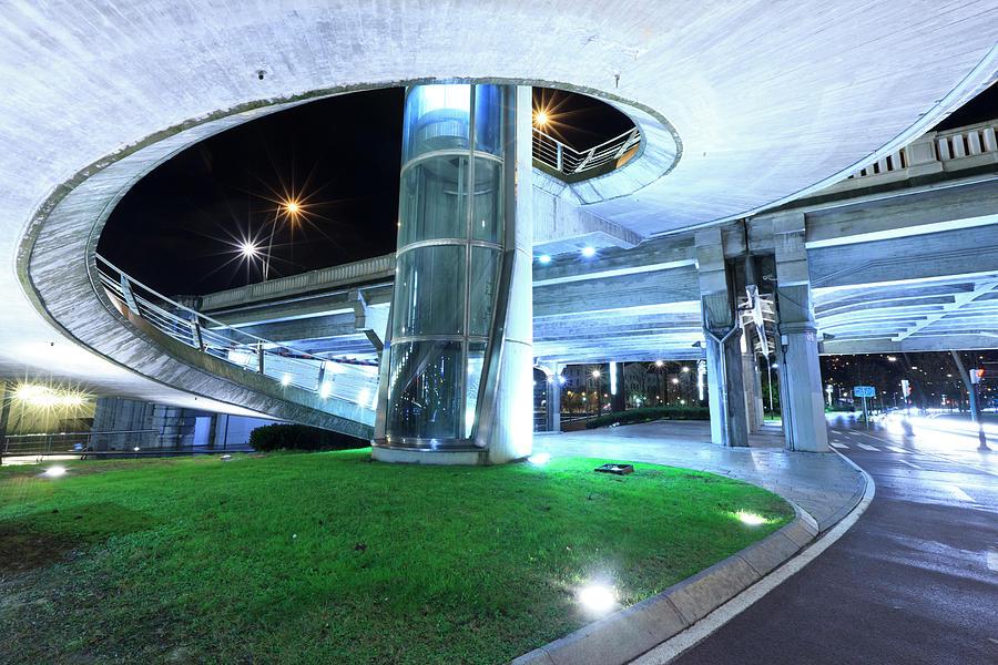 Urban Bilbao Elevator & Walkway Photograph by Hepatus