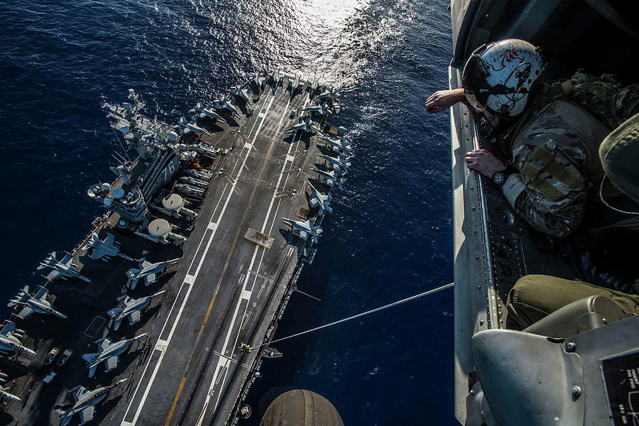 Horizontal Photograph - U.s. Sailors Conduct A Special Patrol by Stocktrek Images