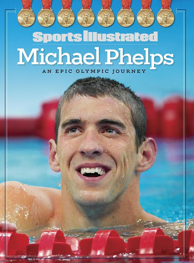 Usa Michael Phelps, 2008 Summer Olympics Sports Illustrated Cover Photograph by Sports Illustrated