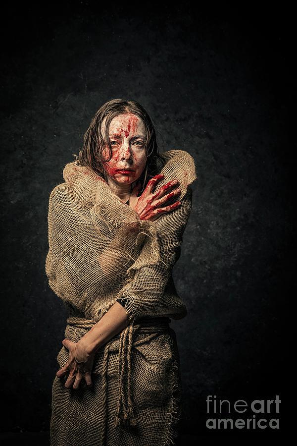 Vampire Woman Photograph by Vladgans