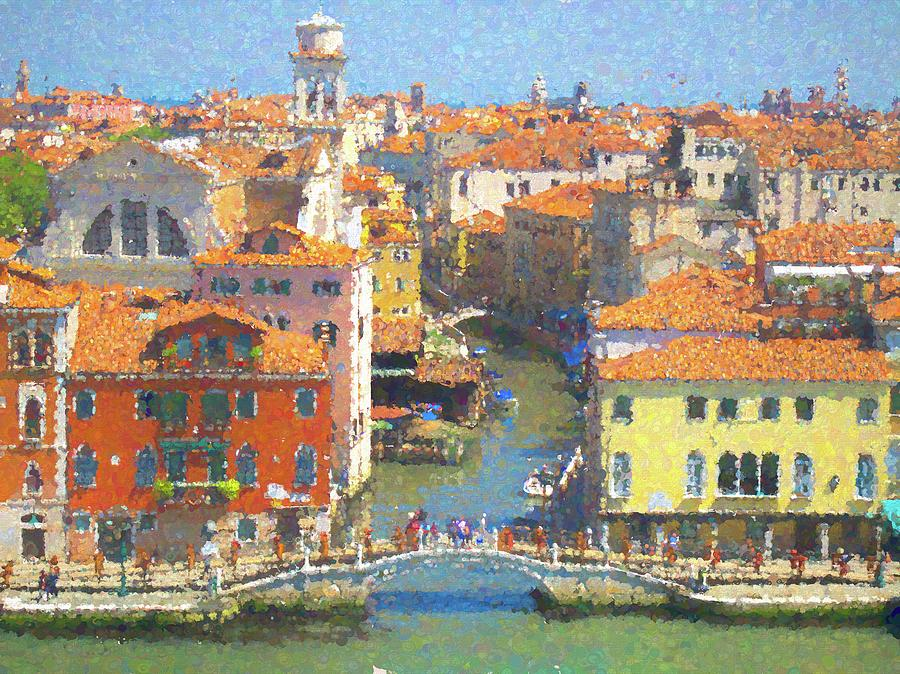 Venice Along the Grand Canal 1 by David Smith