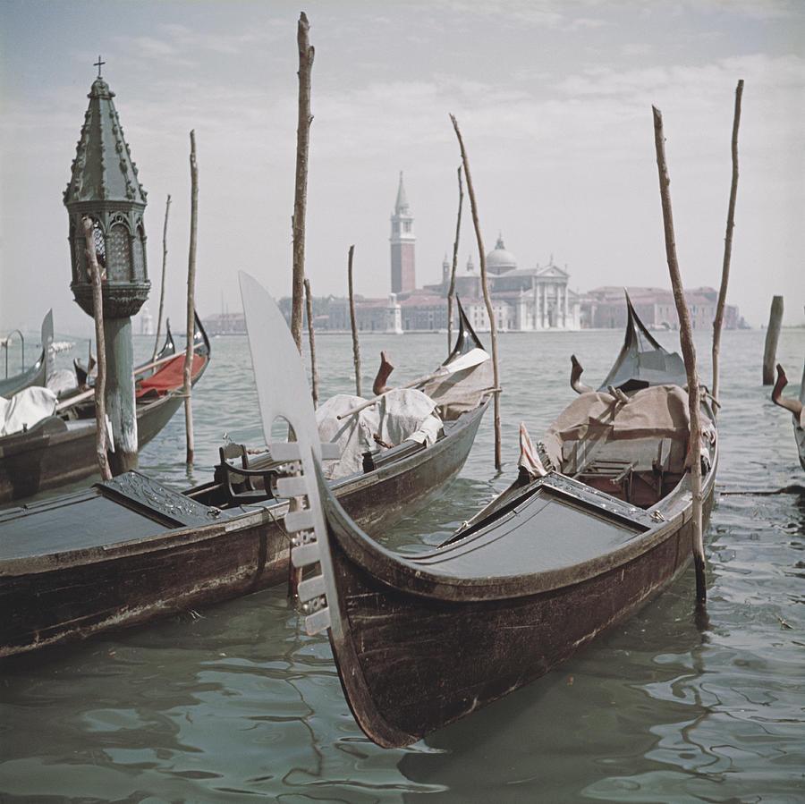 Venice Gondolas Photograph by Slim Aarons