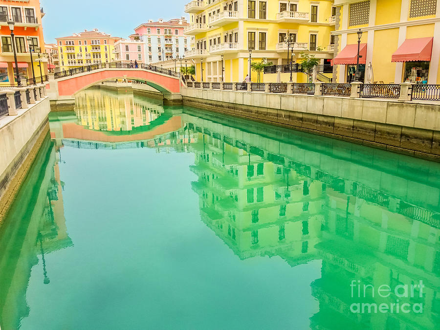 Venice in Doha reflection by Benny Marty