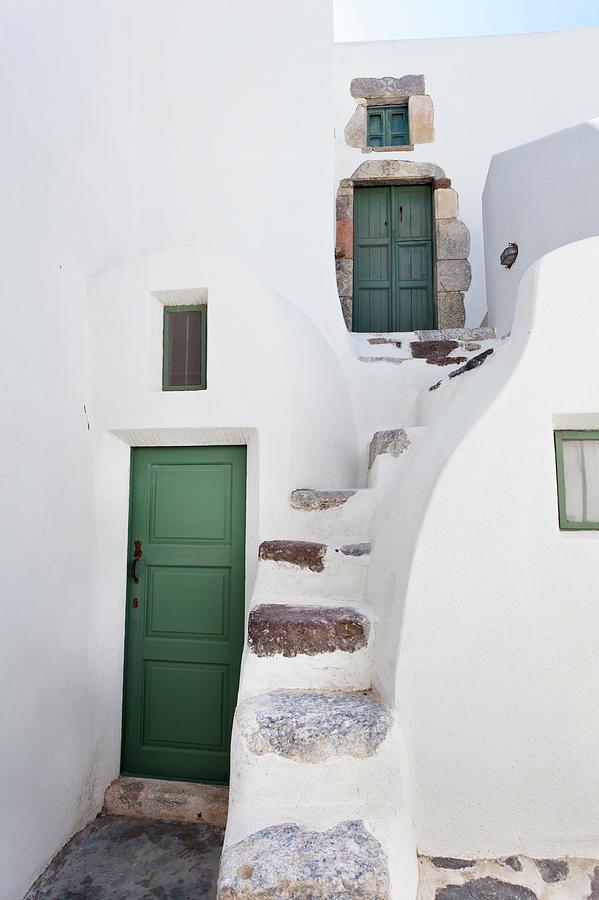 Very Small Doors In Emborio, Santorini Photograph by Michaelutech