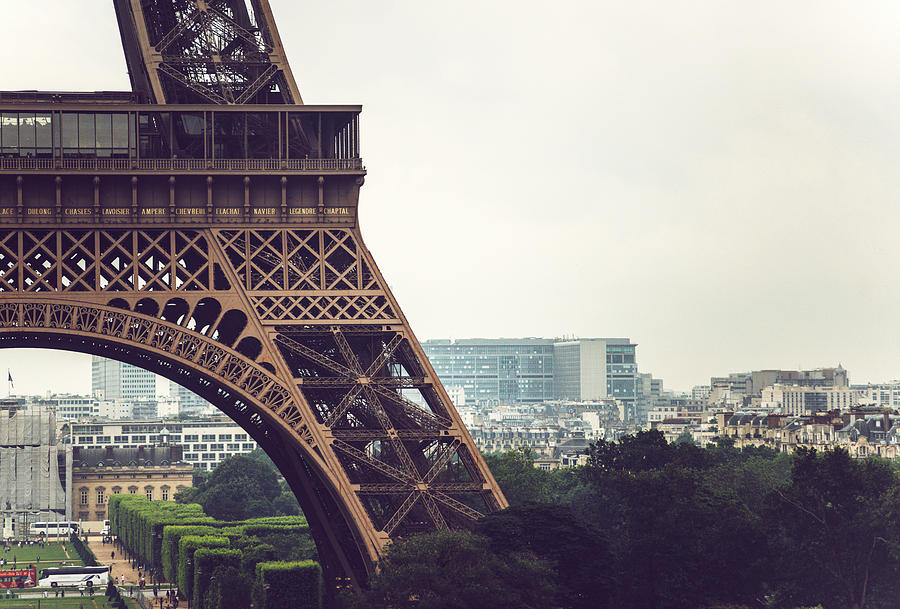 View of Eiffel Tower from Trocadero in Paris, France by Eduardo Huelin
