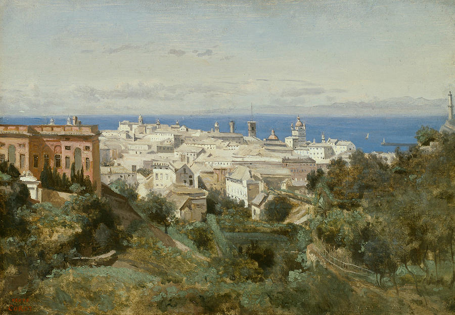 View of Genoa by Jean-Baptiste-Camille Corot