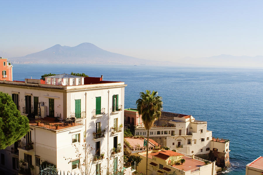 View Of Naples City Panorama With Photograph by Angelafoto