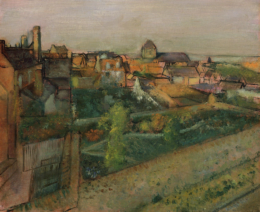 Edgar Degas Painting - View Of Saint Valery Sur Somme  by Edgar Degas
