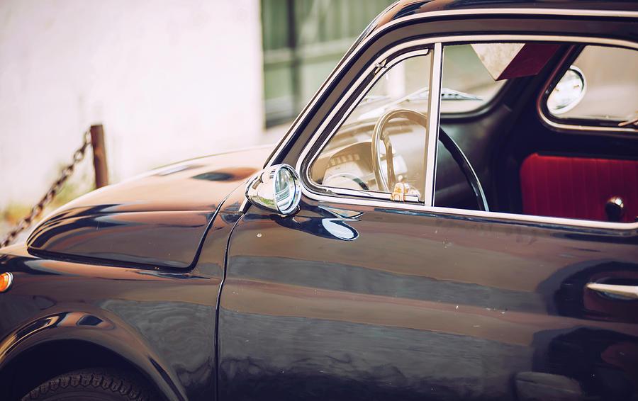 Vintage Car in Rome, Italy by Eduardo Huelin